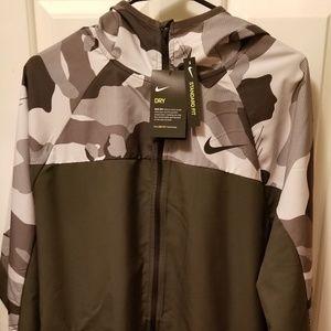 Nike Camo Dri-Fit Jacket with Hood NWT